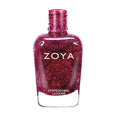 Zoya Nail Polish - Blaze - ZP641 - Red, Holographic, Cool