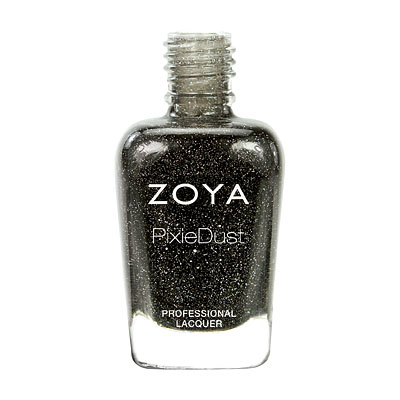 Zoya Nail Polish - Dahlia - PixieDust - Textured - ZP656 - Black, Grey, Cool, Neutral
