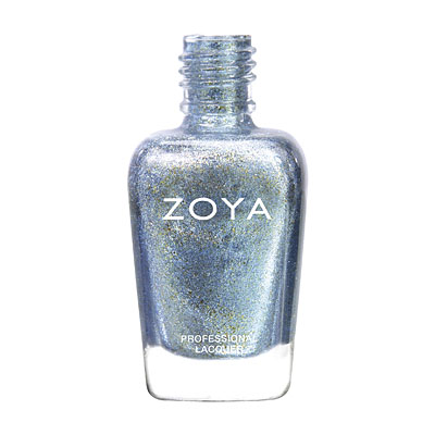 Zoya Nail Polish - Hazel - ZP673 - Blue, Metallic, Cool, Neutral