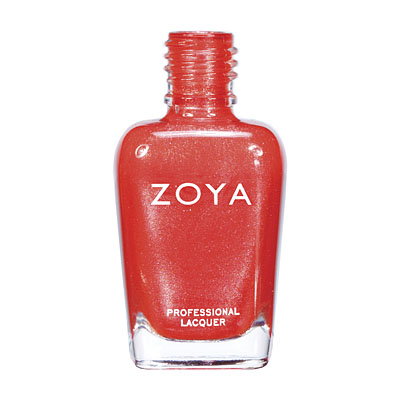 Zoya Nail Polish - Myrta - ZP623 - Orange, Red, Metallic, Cool