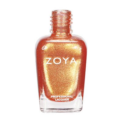 Zoya Nail Polish - Tanzy - ZP549 - Orange, Metallic, Warm