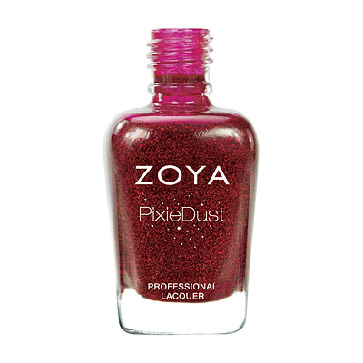Zoya Nail Polish - Chyna PixieDust - Textured - ZP657 - Red, Cool, Neutral
